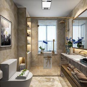 西安中式風格三居室裝修效果圖