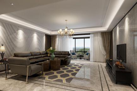 西安欧式风格三居室装修效果图