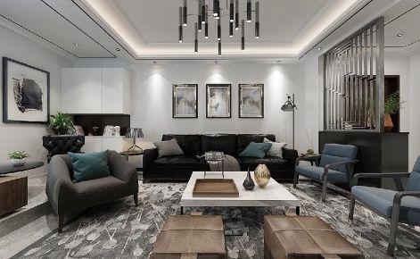 六安正和一中简约大气现代四居室装修案例,时尚低奢品质美宅