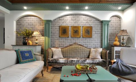 六安明汇城美式田园风格二居室装修案例