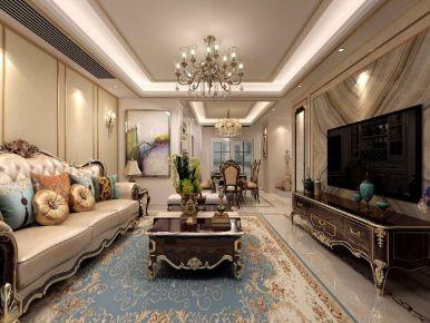 六安正和一中地中海欧式三居室装修,温馨舒适的浪漫之家!
