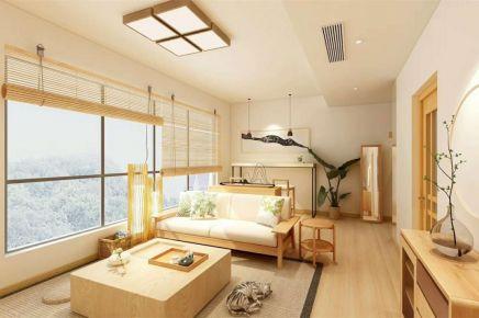 成都91m²日式三居室装修效果图