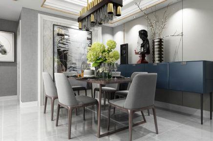 成都134m²现代三居室装修效果图
