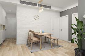 成都89m²北欧三居室装修效果图