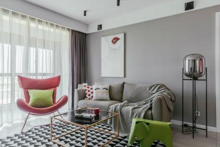 乐山北欧现代三居室装修效果图