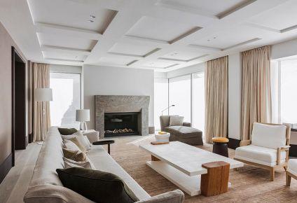 武汉现代风格三居室装修效果图