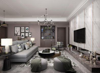 厦门现代风格三居室装修效果图