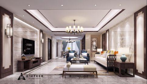 厦门中式风格四居室装修效果图