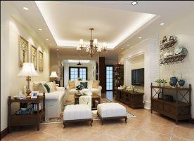 厦门美式风格三居室装修效果图