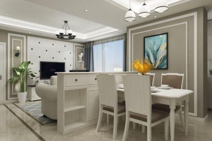 成都90m²美式三居室装修效果图