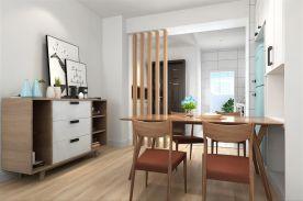 成都85m²北欧三居室装修效果图