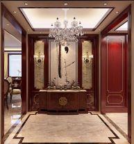 大连新中式三居室装修效果图