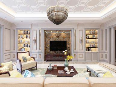 大连美式风格三居室装修效果图