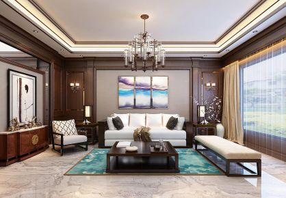 大连中式风格三居室装修效果图