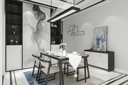 成都133m²新中式四居室装修效果图
