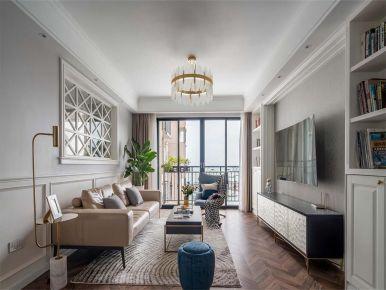 西安美式风格四居室装修效果图