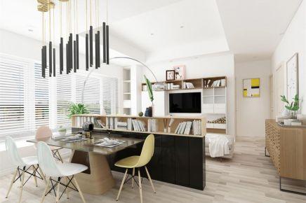 成都 北欧90m² 三居室装修效果图