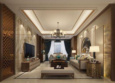 漳州新中式风格两居室装修效果图