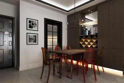 成都135m²现代三居室装修效果图