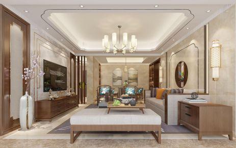 漳州中式风格三居室装修效果图