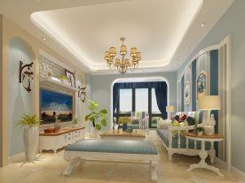 漳州地中海风两居室装修效果图