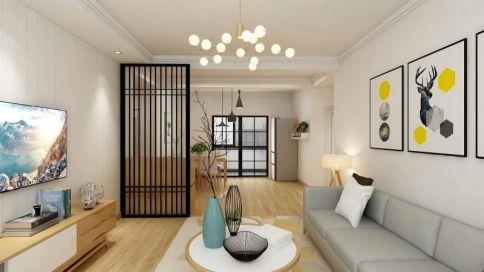保定现代风格两居室装修效果图