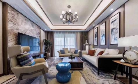 武汉中式风格四居室装修效果图
