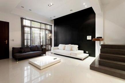 西寧現代黑白灰復式樓裝修效果圖