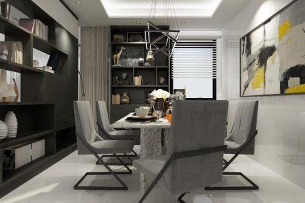 成都133m²现代三居室装修效果图