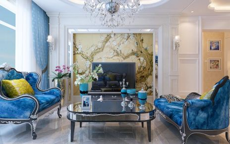 哈尔滨混搭风格两居室装修效果图