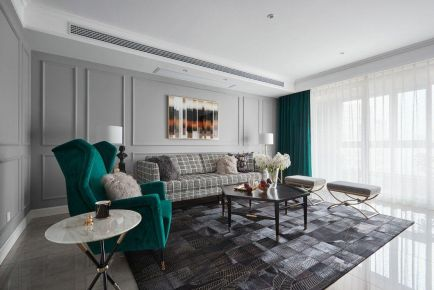 重庆110㎡混搭风格三居室装修效果图