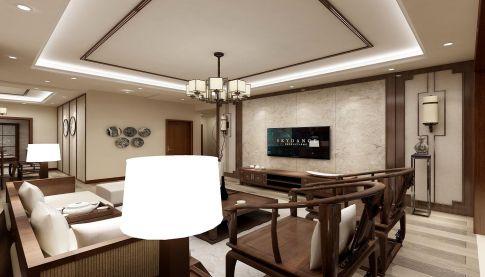 遵义复古风格三居室装修效果图