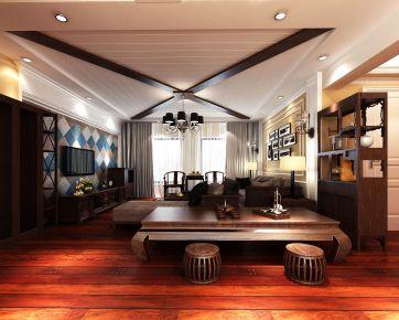 南昌美式风格三居室装修效果图