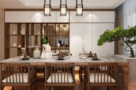 成都112m²新中式三居室装修效果图
