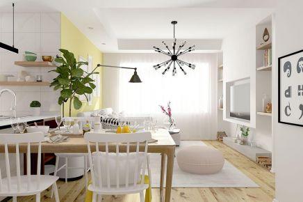 成都90m²北欧三居室装修效果图