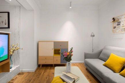 重慶95㎡北歐極簡風三居室裝修效果圖