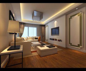 合肥现代风格三居室装修效果图