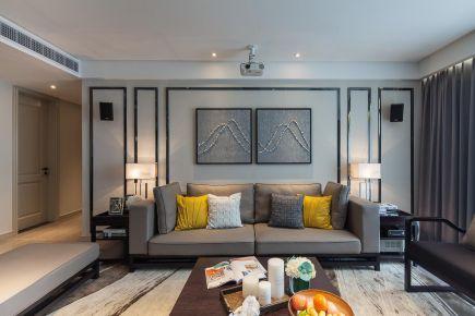 郑州现代风格二居室装修效果图