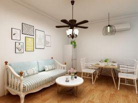 合肥田园风格两居室装修效果图