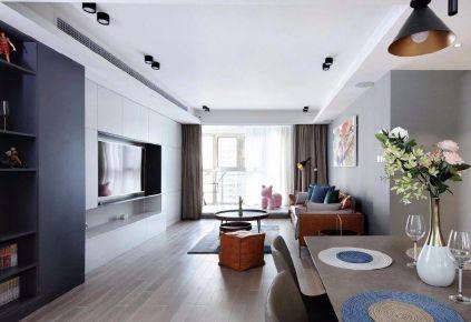 重庆120㎡现代简约三居室装修效果图