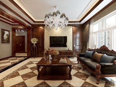 哈尔滨欧式风格两居室装修效果图