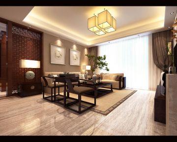 合肥中式风格三居室装修效果图
