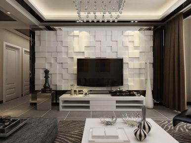 南昌现代风格三居室装修效果图