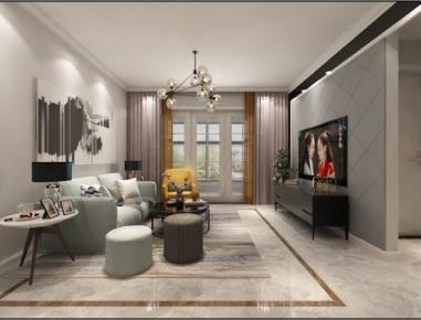 漳州現代簡約兩居室裝修效果圖