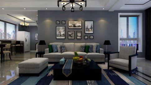 苏州现代风格四居室装修效果图