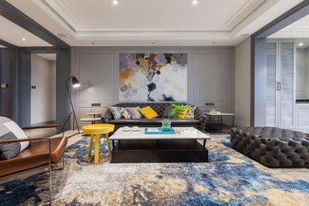 苏州现代风格三居室装修效果图