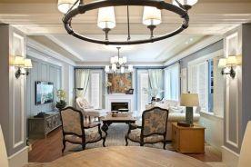 苏州现代美式四居室装修效果图
