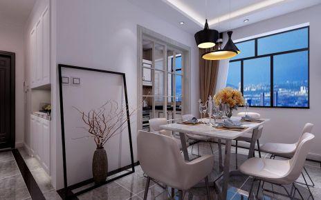 哈尔滨现代简约三居室装修效果图