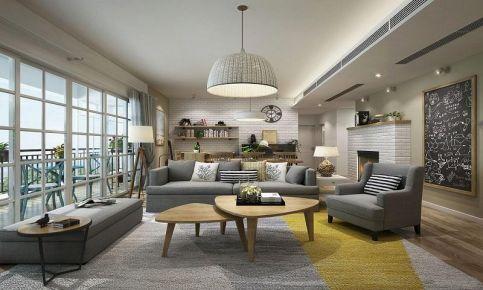 廣州北歐風格三居室裝修效果圖