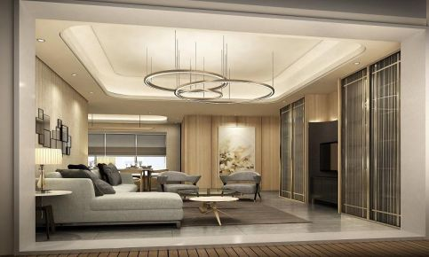 广州现代简约风格三居室装修效果图